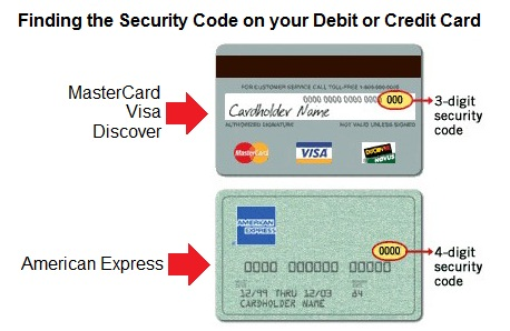The card security code is located on the back of MasterCard, Visa, Discover, Diners Club, and JCB credit or debit cards and is typically a separate group of three digits to the right of the signature strip.
